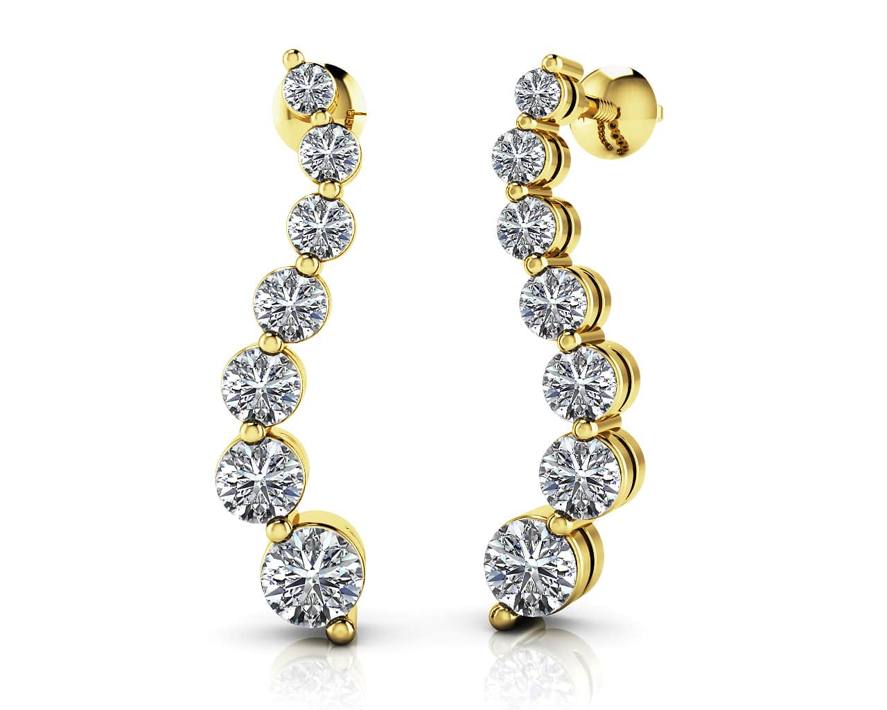 Journey Diamond Earrings 3/8 Carat Total Weight