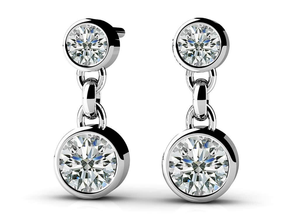 Diamond Dangle Earrings 1/4 Carat Total Weight