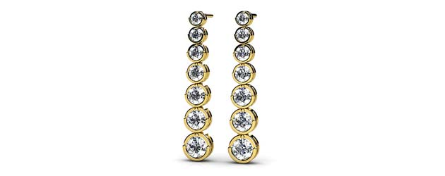 Single Stand Diamond Earrings 1/2 Carat Total Weight