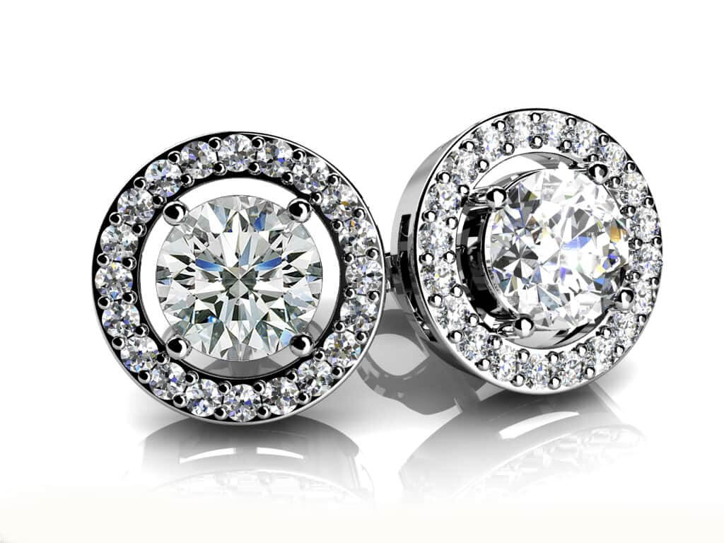 Romanced By Diamonds Stud Earrings 0.81 Carat Total Weight