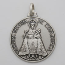 Sterling Silver Our Lady of Covadonga Medal