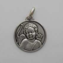 Sterling Silver Cupid Medal
