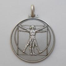 Sterling Silver DaVinci Medal