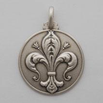 Sterling Silver Fleur de Lis Medal