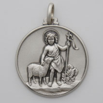 Sterling Silver Young John the Baptist Medal