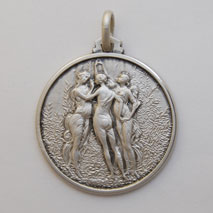 Sterling Silver Three Graces Medal