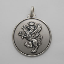 Sterling Silver Griffin Medal