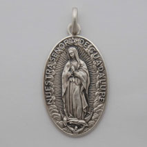 Sterling Silver Oval Guadalupe Medal
