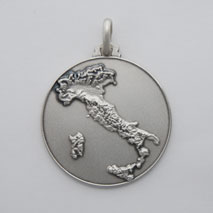 Sterling Silver Italy Medal