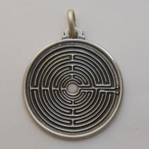 Sterling Silver Labyrinth Medal