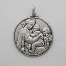 Sterling Silver Seggiola Medal