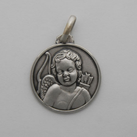 21mm Sterling Silver Cupid Medal
