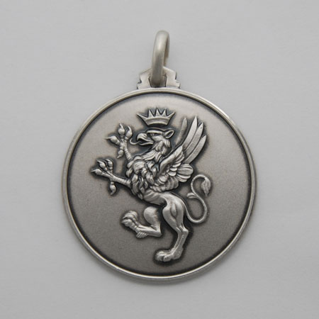 25mm Sterling Silver Griffin Medal