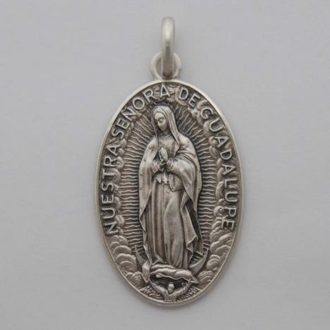 Sterling Silver Our Lady of Guadalupe Medal