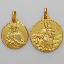 18K Yellow Gold Carmine / Scapolare, Double Sided Medallion