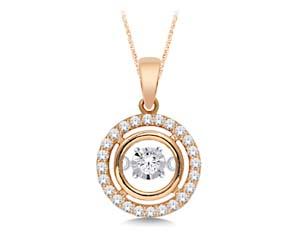 Moving Diamond Pendant