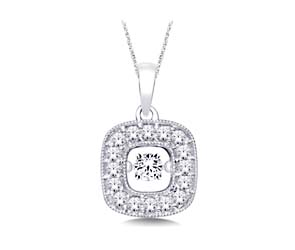 Moving Diamond Pendant