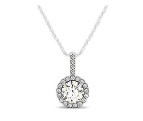 Diamond Ring Accented Halo Pendant