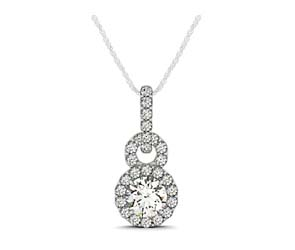 Infinity Halo Diamond Encrusted Pendant