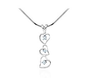 Diamond Ladies Heart Pendant<br> .03 Carat Total Weight
