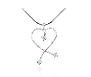 Ladies Diamond Heart Pendant<br> .04 Carat Total Weight