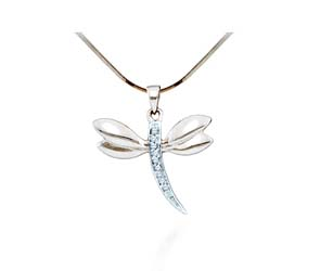 Ladies Diamond Butterfly Pendant<br> .03 Carat Total Weight