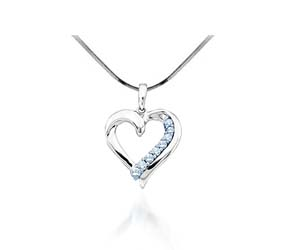 Diamond Heart Pendant<br> 1/4 Carat Total Weight