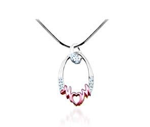 Diamond MOM Fashion Pendant<br> .03 Carat Total Weight