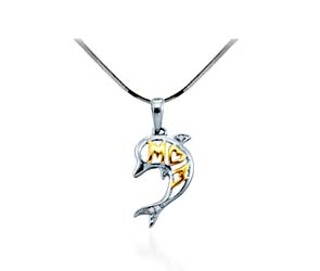 Diamond Dolphin Pendant<br> .02 Carat Total Weight