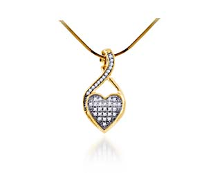 Diamond Heart Pendant<br> 1/10 Carat Total Weight