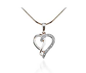 Diamond Heart Pendant<br> .03 Carat Total Weight