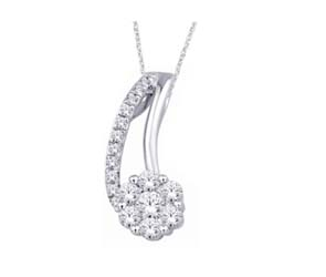Diamond Flower Fashion Pendant