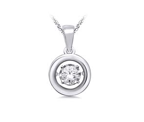 Moving Diamond Solitaire Pendant