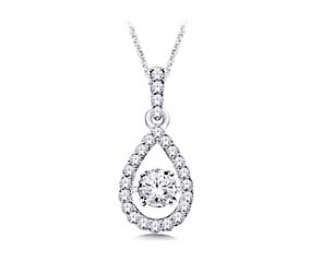 Moving Diamond Hanging Fashion Pendant