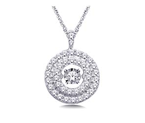 Moving Diamond Circle Pendant