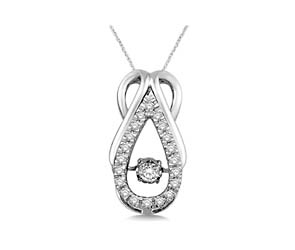 Hanging Moving Diamond Fashion Pendant