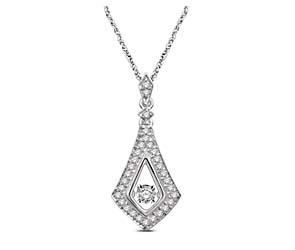 Moving Diamond Fashion Pendant