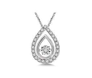Moving Diamond Pear Shaped Fashion Pendant
