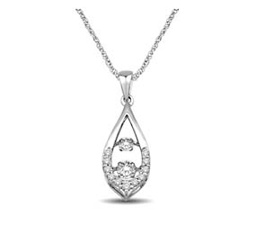 2 Stone Moving Diamonds Pendant