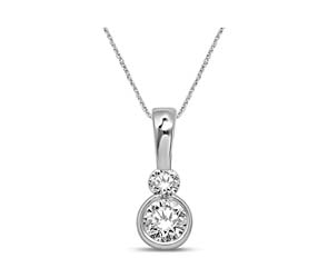 2 Stone Diamond Fashion Pendant
