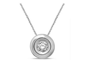 Round Bezel Diamond Pendant