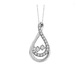 2 Stone Moving Diamond Fashion Pendant