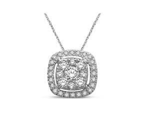 Diamond Fashion Flower Pendant