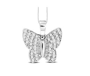 Diamond Fashion Butterfly Pendant