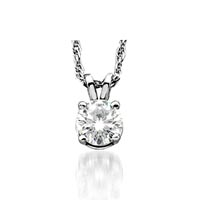 4 Prong Solitaire Pendant .90 Carat Total Weight