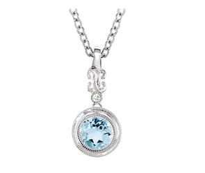 Aquamarine Diamond Pendant