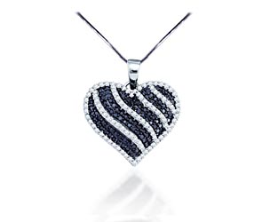 Ladies Diamond Heart Pendant<br> 1.0 Carat Total Weight