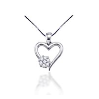 Diamond Heart Pendant 1/10 Carat Total Weight