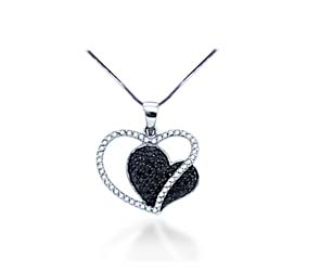 Ladies Diamond Heart Pendant<br> .44 Carat Total Weight