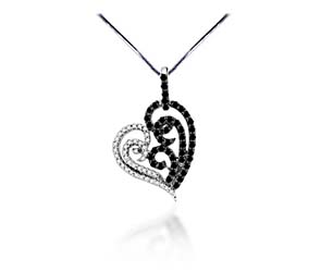 Artistic Diamond Heart Pendant<br> .63 Carat Total Weight